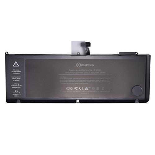 iProPower A1382 Ersatz Akku für Apple MacBook Pro 15 inch A1286 (Nur für Core i7 Anfang 2011 Ende 2011 Mid 2012)