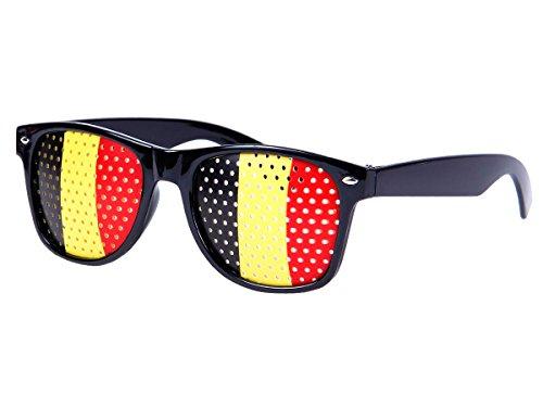 Alsino WM Lochbrille Pinehole Fanbrille Fussball Brille Länderbrille Gitterbrille Rasterbrille, wählen:V-1154 Belgien