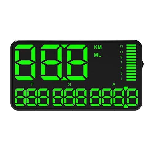 BIlinli C90 Coche HUD Head Up Display GPS velocímetro Pantalla de Velocidad KM/H mph para Coche Bicicleta Motocicleta GPS Alarma de Exceso de Velocidad