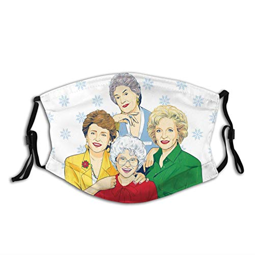 Golden Girls Face Mask Dorothy Rose Blanche Sophia for Adults Reusable with 2 PC Filters Mouth Cover Balaclavas