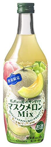 ギュギュッと搾ったサングリア マスクメロンMix [ 白ワイン 甘口 日本 500ml×12本 ]