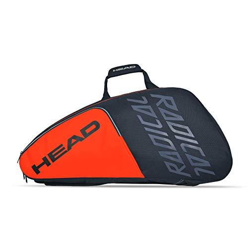 Head Radical 9R Supercombi, Portaracchette, Nero/Arancione