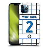 Head Case Designs Personalizzata Personale Inter Milan Away 2020/21 Kit Crest Cover Dura per Parte Posteriore Compatibile con Apple iPhone 12 / iPhone 12 PRO