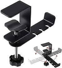 JVCV® Headset Headphone Hook Holder Hanger Mount, Headphones Stand with Adjustable & Rotating Arm Clamp, Under Desk Design...