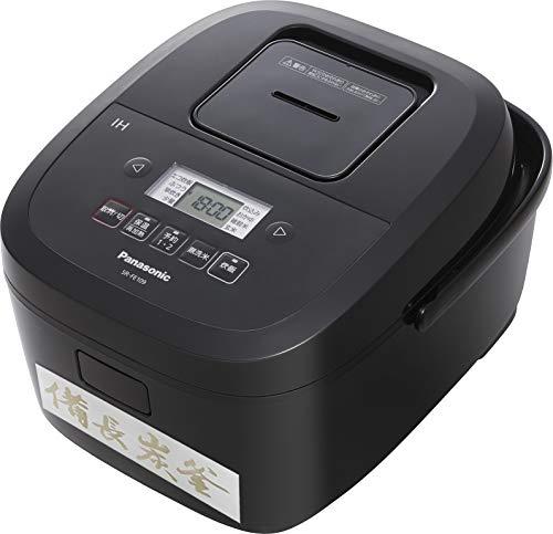 パナソニック 炊飯器 5.5合 IH式 備長炭釜 ブラック SR-FE109-K