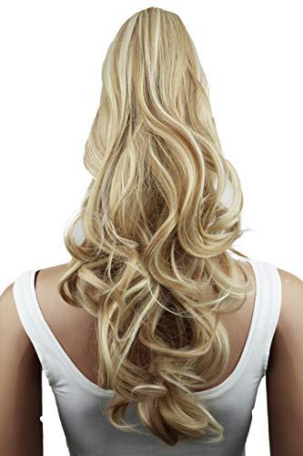 PRETTYSHOP 50cm Haarteil Zopf Pferdeschwanz Haarverlängerung Voluminös Gewellt Blond Mix H14