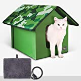 Outdoor/Indoor Heated Cat House, Petfactors Cat...