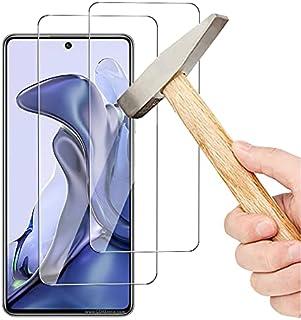 واقي شاشة OIATROE [2-Pack] لـ Xiaomi 11T ، واقي شاشة زجاجي مقوى فائق النحافة 2.5D Pro-Fit - شفاف