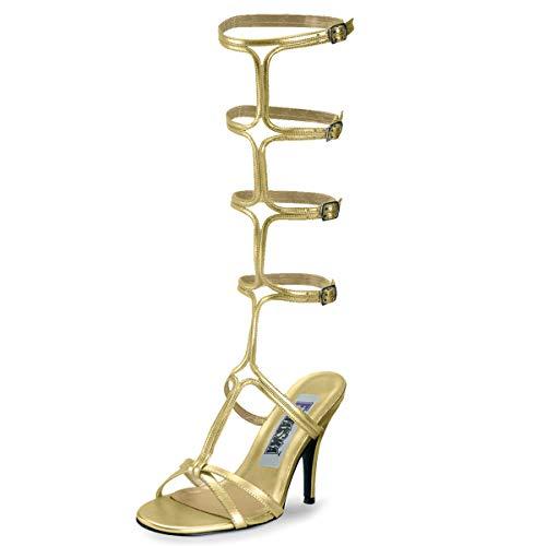 Higher-Heels Funtasma Römerinnen-Schuhe Roman-10 mattgold Gr. 41,5