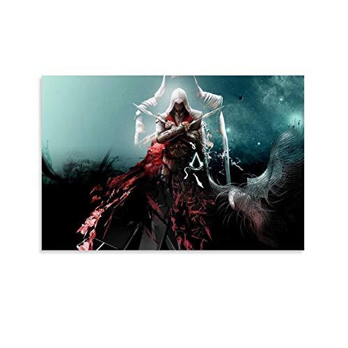 DRAGON VINES Assassin's Creed Revelations Desmond Miles Lucy Crane Old Style Póster Cuadros para decoración del hogar de la habitación, 40 x 60 cm