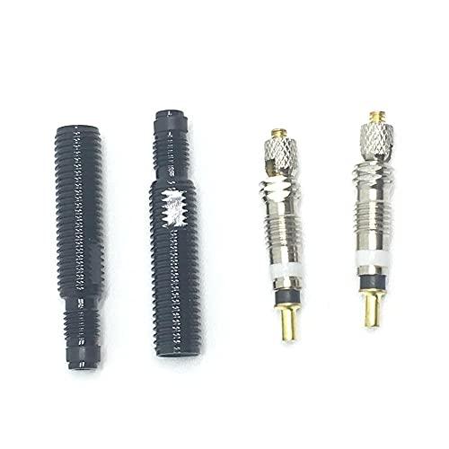 Extensiones De VáLvulas,NeumáTicos ExtensióN De Vá 2 PCS 30 mm Válvula de bicicleta sin cámara Extensión de válvula extraíble Extensión con herramienta/tapa de aleación/núcleo de válvula
