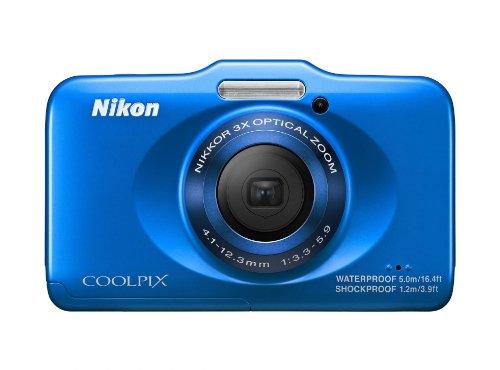 Nikon Coolpix S31 Digitalkamera (10 Megapixel, 3-fach opt. Zoom, 6,9 cm (2,7 Zoll) LCD-Display, bis 5m wasserdicht) azur blau