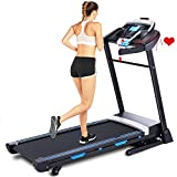 ANCHEER Treadmill, 3.25HP Electric Treadmills for Home with APP Control and Automatic Incline Walking Running Machine Equipment for Home Gym (Black)