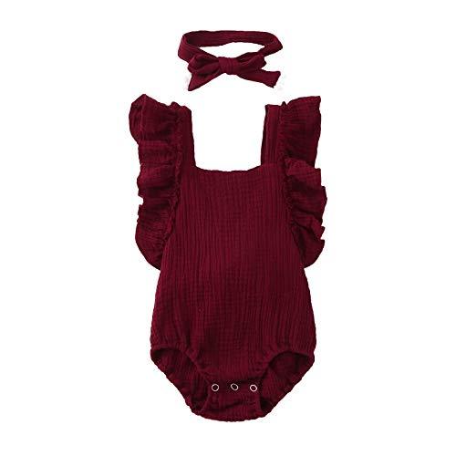 HINK Conjunto de trajes para niñas de 0 a 6 meses mameluco sin mangas de verano para mamá y yo vestidos largos + diadema conjunto a juego con la familia