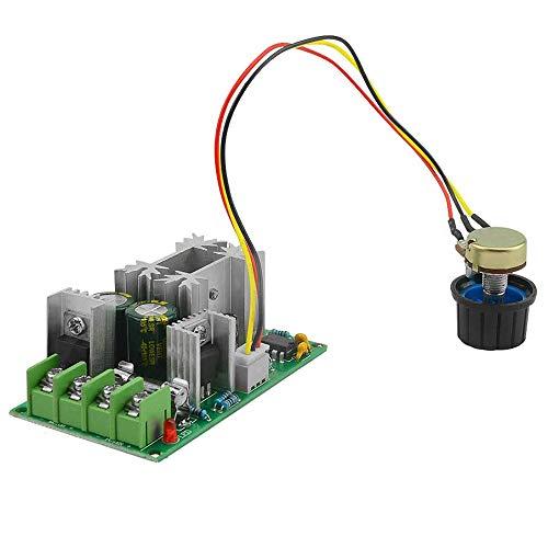 Controlador de velocidad del motor PWM DC 12 V 24 V 36 V 48 V, módulo de accionamiento de alto rendimiento, regulador de velocidad electrónico ajustable PWM para regulador LED ultrapequeño de 20 A