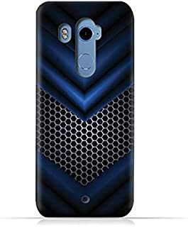HTC U11 Plus TPU Silicone Case With Abstract Blue Mesh Pattern