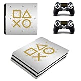 Adventure Games PS4 PRO - Days of Play, White, Limited Edition - Playstation 4 Vinyl Console Skin Decal Sticker + 2 Controller Skins Set