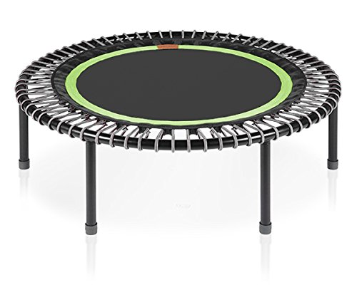 """bellicon Classic 44"""" with Fold-up Legs (Black Mat / Silver Bungees, Strong Bungees (140-200 lbs))"""