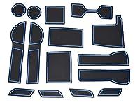 ホンダ アコード Accord 青 CR5/6/7 専用設計 インテリア ドアポケット マット ドリンクホルダー 滑り止め ノンスリップ 収納スペース保護