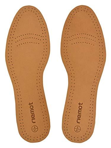 riemot Plantillas Cuero para Hombre y Mujer, Plantillas de Piel de Oveja Cerdo piel, para Zapatos de piel, Zapatos de Deportes, Botas, Zapatos de Calzado Casual, Marrón-1 Mujer EU 37