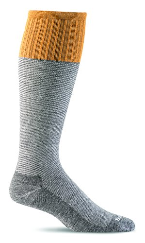 Sockwell Men's Bart Moderate Graduated Compression Sock, Charcoal - L/XL