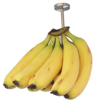 YYST Banana Hanger Banana Hook Banana Organizer  Stainless Steel  Under Cabinet Hook for Bananas or Heavyweight Kitchen Items Screws Included.