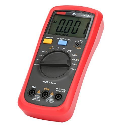 Mxzzand Multímetro de Alta precisión NCV Multímetro de Mano sin Contacto medidor de Prueba UT136B + para la Industria