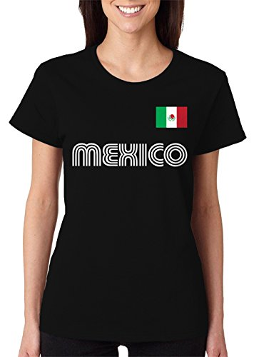 SpiritForged Apparel Mexico Soccer Jersey Women's T-Shirt, Black XL