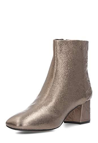 Apepazza Damen Ankle-Boots Amelie Leder Absatz 5,5 cm schwarz NEU