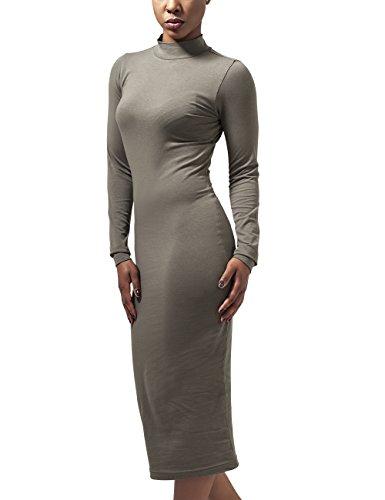 Urban Classics Damen Ladies Turtleneck L/S Dress Kleid, Grün (Olive 176), 36 (Herstellergröße: S)