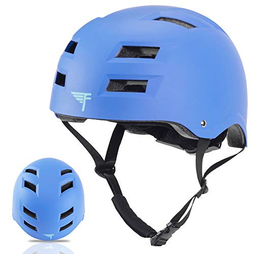 Flybar Dual Certified CPSC Multi Sport Kids & Adult Bike And Skateboard Adjustable Dial Helmet,True Blue,L-XL