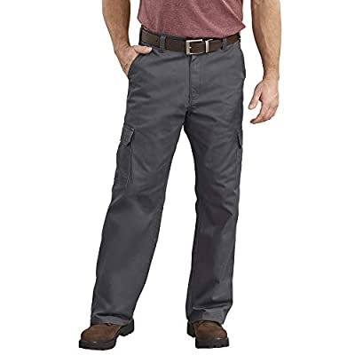 Dickies Men's Loose-Fit Cargo Work Pant, Charcoal, 36W x 30L