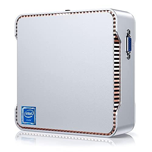 Mini PC, NiPoGi 8GB RAM DDR4/256GB M.2 SSD Celeron J4125 Small Office Fisso Desktop Computer Windows 10 Pro, Micro PC Support 4K UHD@60Hz, 1000 Mbps, Dual Band WIFI, 2*HDMI+1*VGA Triple Display