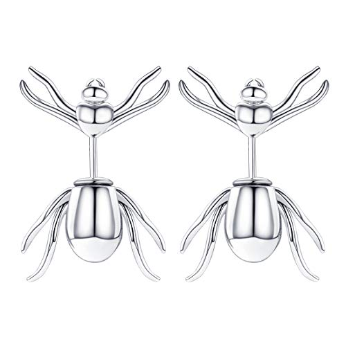 Spider Stud Earrings For Women, Gift For Girlfriend, 925 Sterling Silver Insect Jewellery Araneid Earrings (With Gift Box)