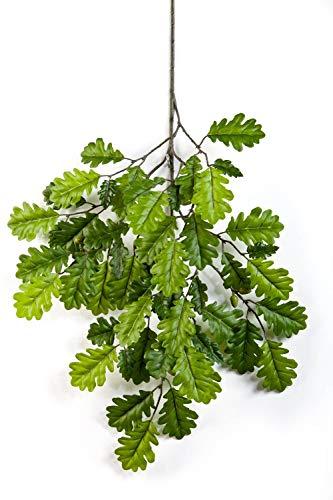 artplants.de Rama Artificial con Hojas de Roble y 8 bellotas, 55 Hojas, Verde, 60cm - Ramificación Decorativo - Ramasintética