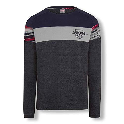 RB Leipzig Blizzard Long Sleeve Polo, Blau Herren Large Polo Shirt, RasenBallsport Leipzig Sponsored by Red Bull Original Bekleidung & Merchandise