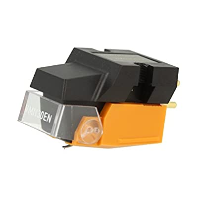 Audio Technica VM530EN Dual Moving Magnet Phono Cartridge with Elliptical Stylus includes Mounting Hardware (Black/Orange)