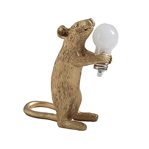 Lampada da tavolo Mini Mouse Lampada da tavolo decorativa da notte Lampada da comodino in resina a LED per la casa per camera da letto Soggiorno Ufficio
