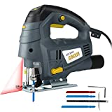 Scie Sauteuse, Ginour 800W Guide Laser, 7 Vitesse Variable, 3000 SPM, Angle Max...