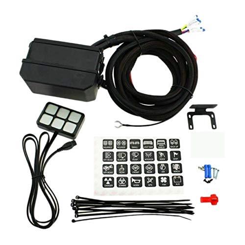 Reunion 12V 6 Panel de interruptores de pandillas LED Light Sistema DE Control DE RELAJO ELECTRÓNICO Ajuste para EL Barco DE CAMIÓN DE Cara (Color : Black)