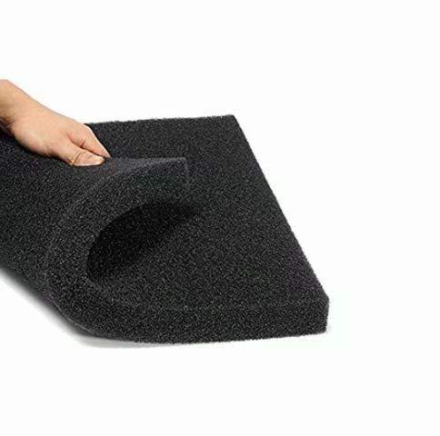 Esponja filtro para acuario,de espuma de algodón bioquímico, 50 x 50 x 2 cm