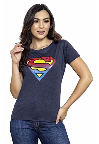 Camiseta Sideway Super Man Logo - Azul Marinho