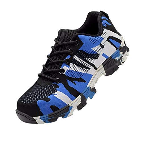 KERULA Sneakers Damen, Klassisch Mode Stahlkappe Arbeitssicherheit Atmungsaktive Freizeitkonstruktion Breathable Low-Top Herrenschuhe Basketballschuhe Freizeitschuhe Schuhe