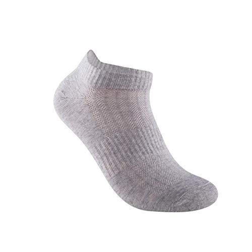 Comfortabele ademende beste sport sokken antibacteriële en deodorant gekamd katoen grijs mannen sport boot sokken 5 paar