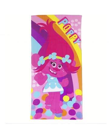 10XDIEZ Toalla Playa niña Microfibra Trolls Poppy