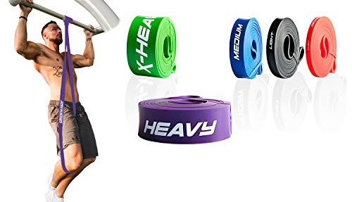 ActiveVikings® Pull-Up Fitnessbänder | Perfekt für Muskelaufbau und Crossfit Freeletics Calisthenics | Fitnessband Klimmzugbänder Widerstandsbänder (D - Lila : Heavy (starker Widerstand))