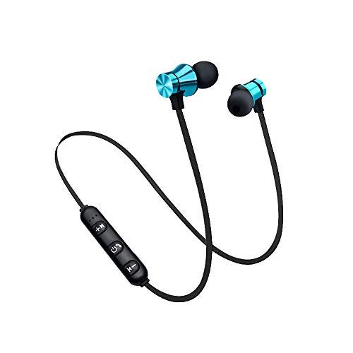 ALIKEEY - Auricolari stereo bluetooth senza fili, magnetici, per iPhone, iPad, Samsung, Huawei, xiaomi e molto altro Blu