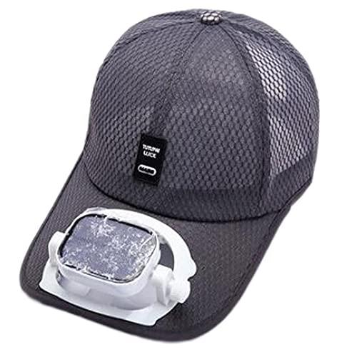 XZQ Sombrero De Ventilador Solar, Gorra De Béisbol De Aire Acondicionado con Carga Solar USB, Verano, Viaje Al Aire Libre, Sombrero De Sol Transpirable para Hombres Y Mujeres Parejas