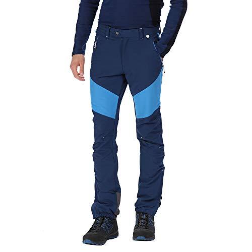 Regatta Herren Mountain Active Stretch wasserabweisend langlebig Walking & Wandern Hose 3XL Preußisch/Oxford-Blau