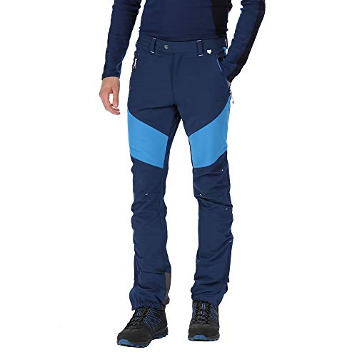 Regatta Mountain Active Herren Stretch Wasserabweisend Durable Walking & Hiking Hose Hose XXL Preußisch/Oxford-Blau